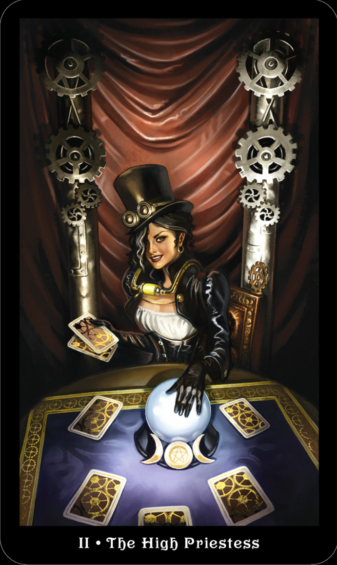 II of Barbara Moore`s Steampunk Tarot