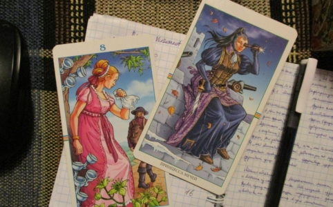 Wheel of the Year Tarot Princess of Swords
