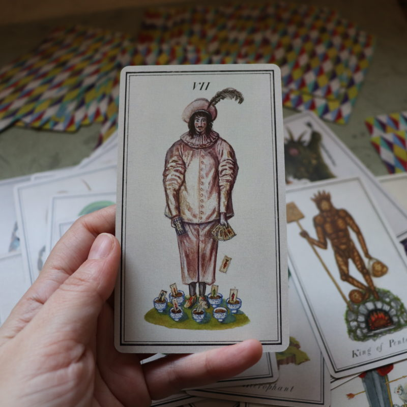 7 of cups from carnival at the end of the world tarot